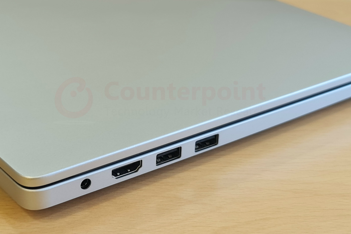 counterpoint xiaomi mi notebook 14 review left ports