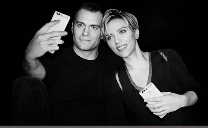 Huawei Cavill and Johansson