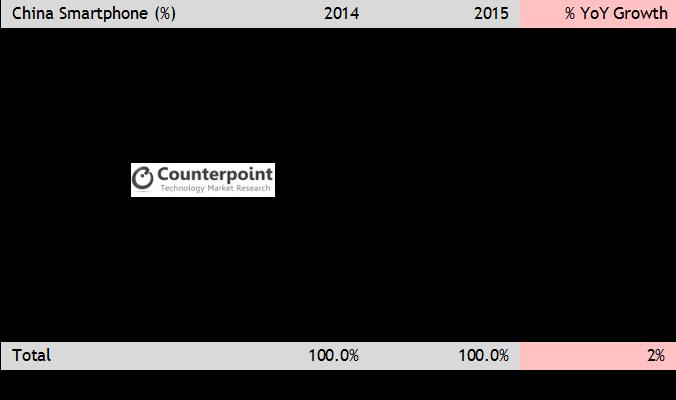 China 2015 MarkeT share