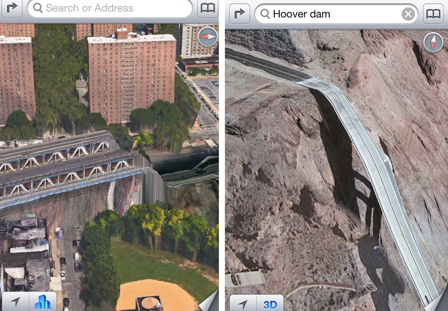 apple maps 3d view
