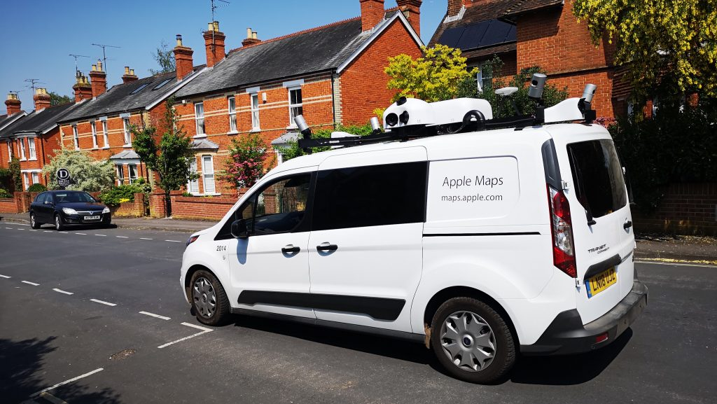 Apple Maps Van seen in the UK in June 2018