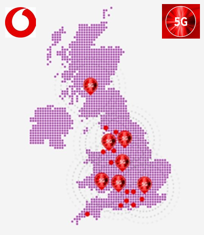 Vodafone 5G Coverage in the UK