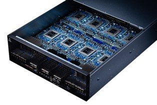 Habana Labs HLS-1 System which combines eight Gaudi accelerator cards