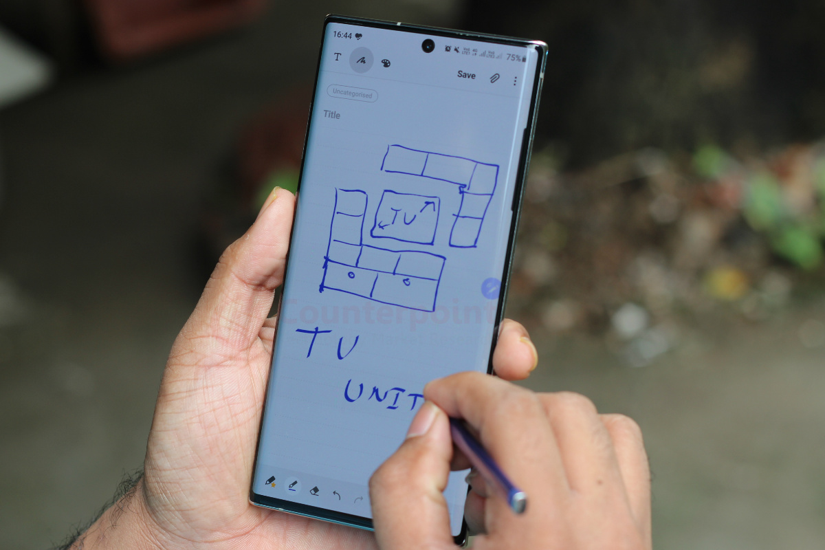 counterpoint samsung galaxy note 10 plus long term review s pen use