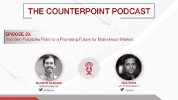 counterpoint podcast foldable smartphones