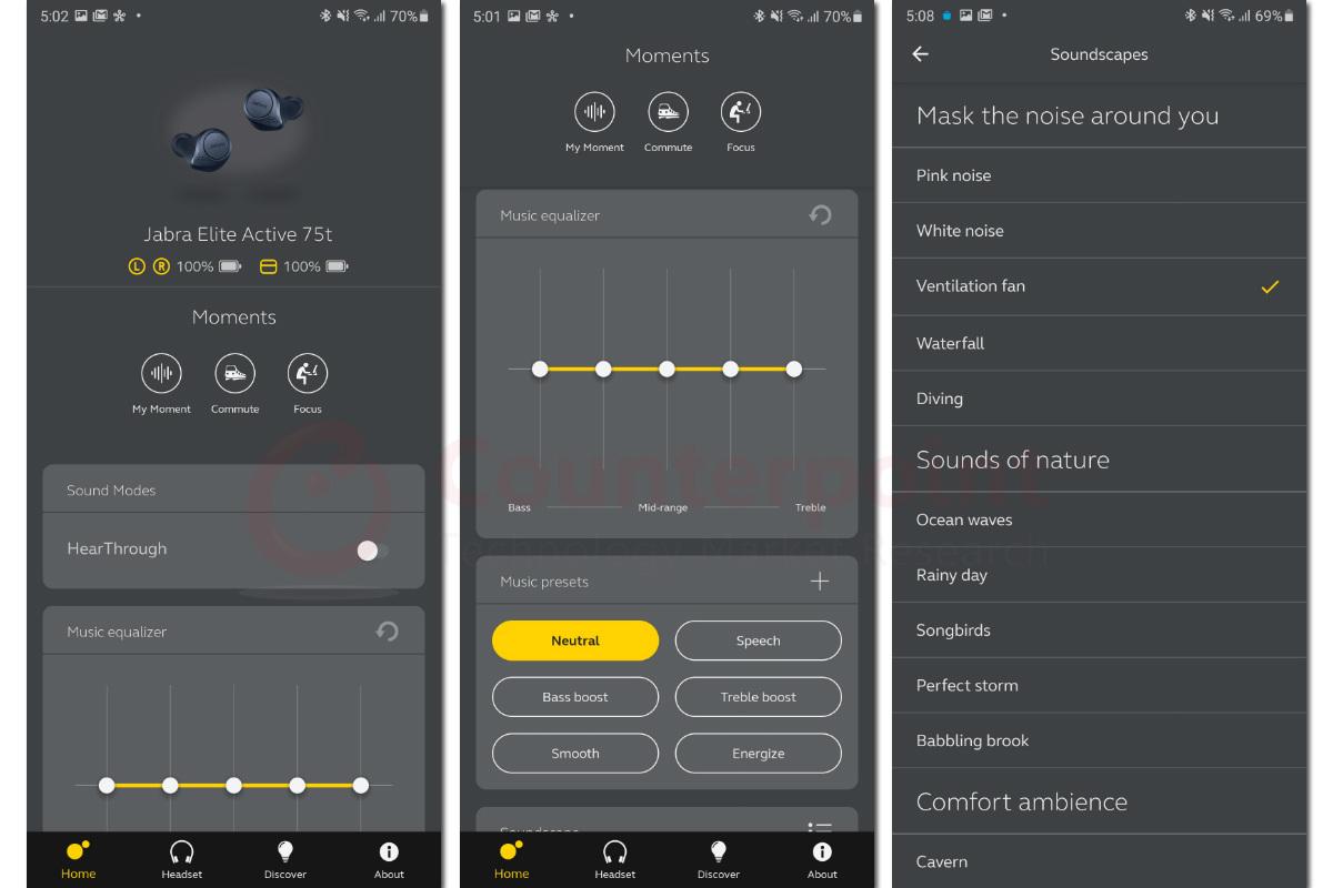 jabra sound plus app equalizer and soundscapes