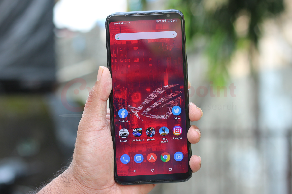 counterpoint asus rog phone 3 review front