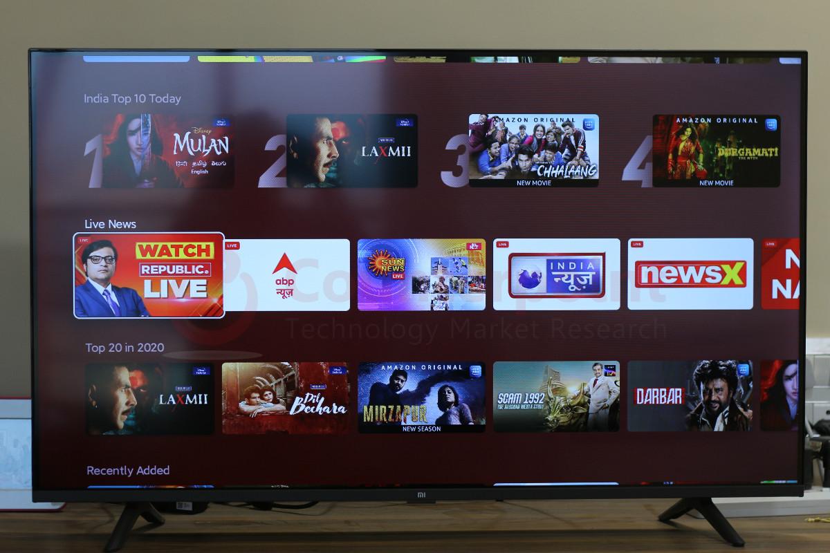 counterpoint mi tv horizon live tv channels