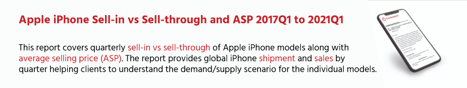 Counterpoint Research Apple iPhone Market Share: By Quarter