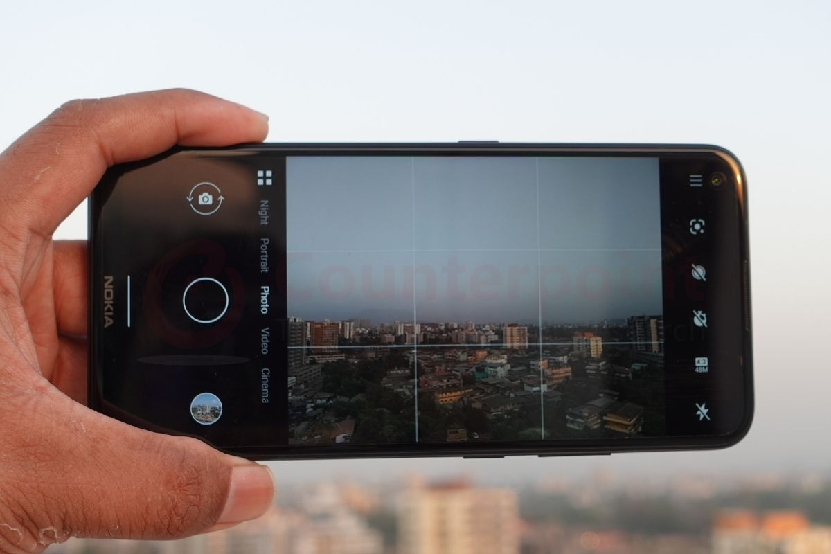counterpoint nokia 5.4 review camera app