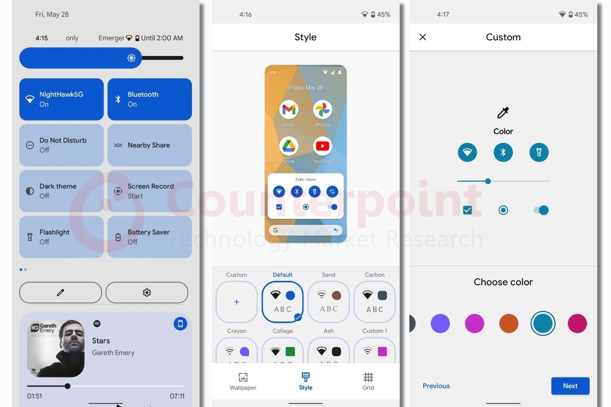 Counterpoint Android 12 first impressions UI