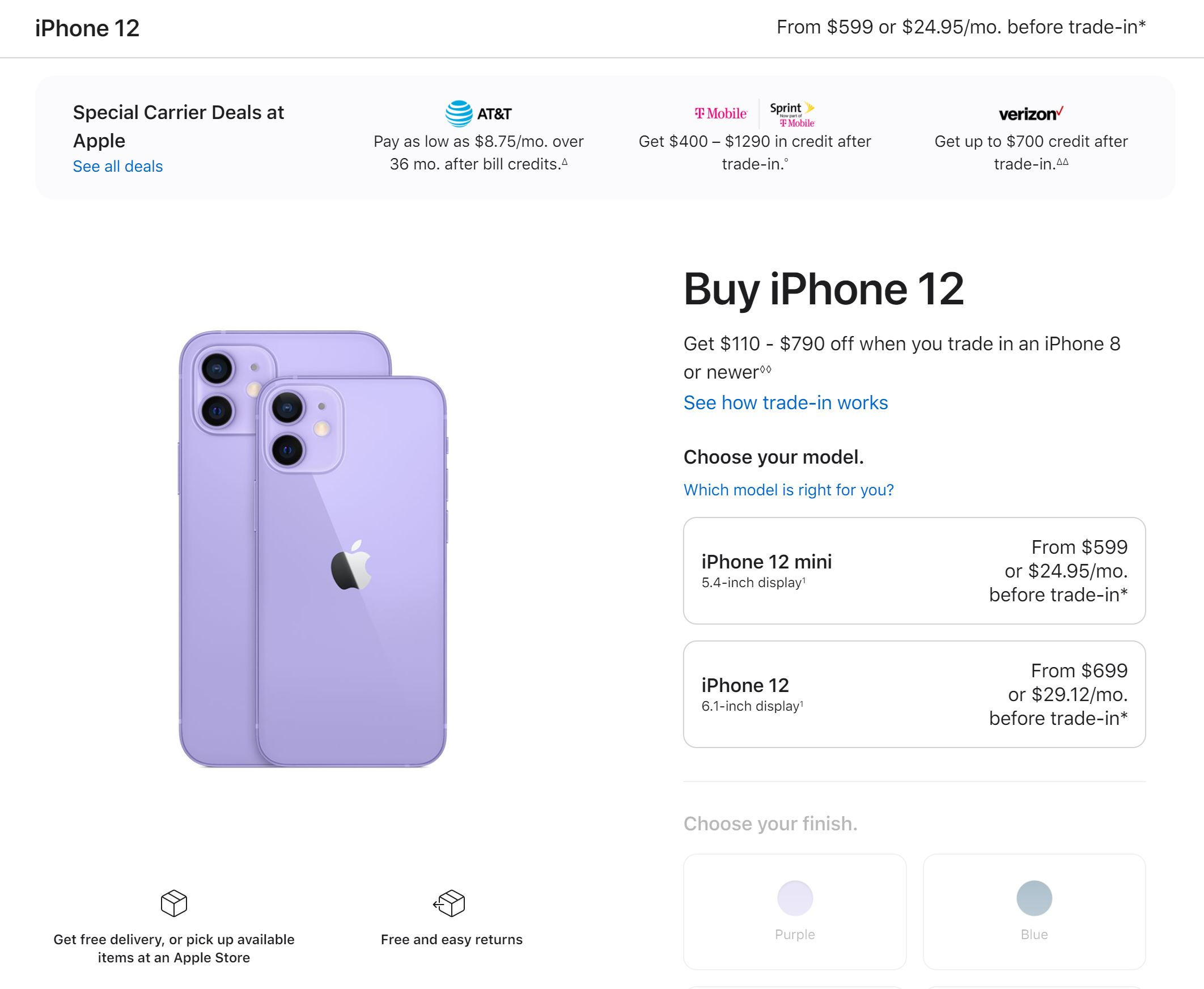 iPhone 12 Apple Store