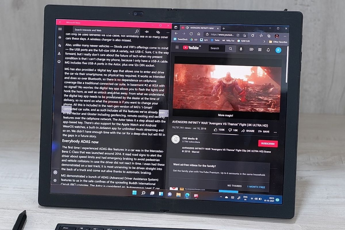 counterpoint lenovo thinkpad x1 fold review mode switcher